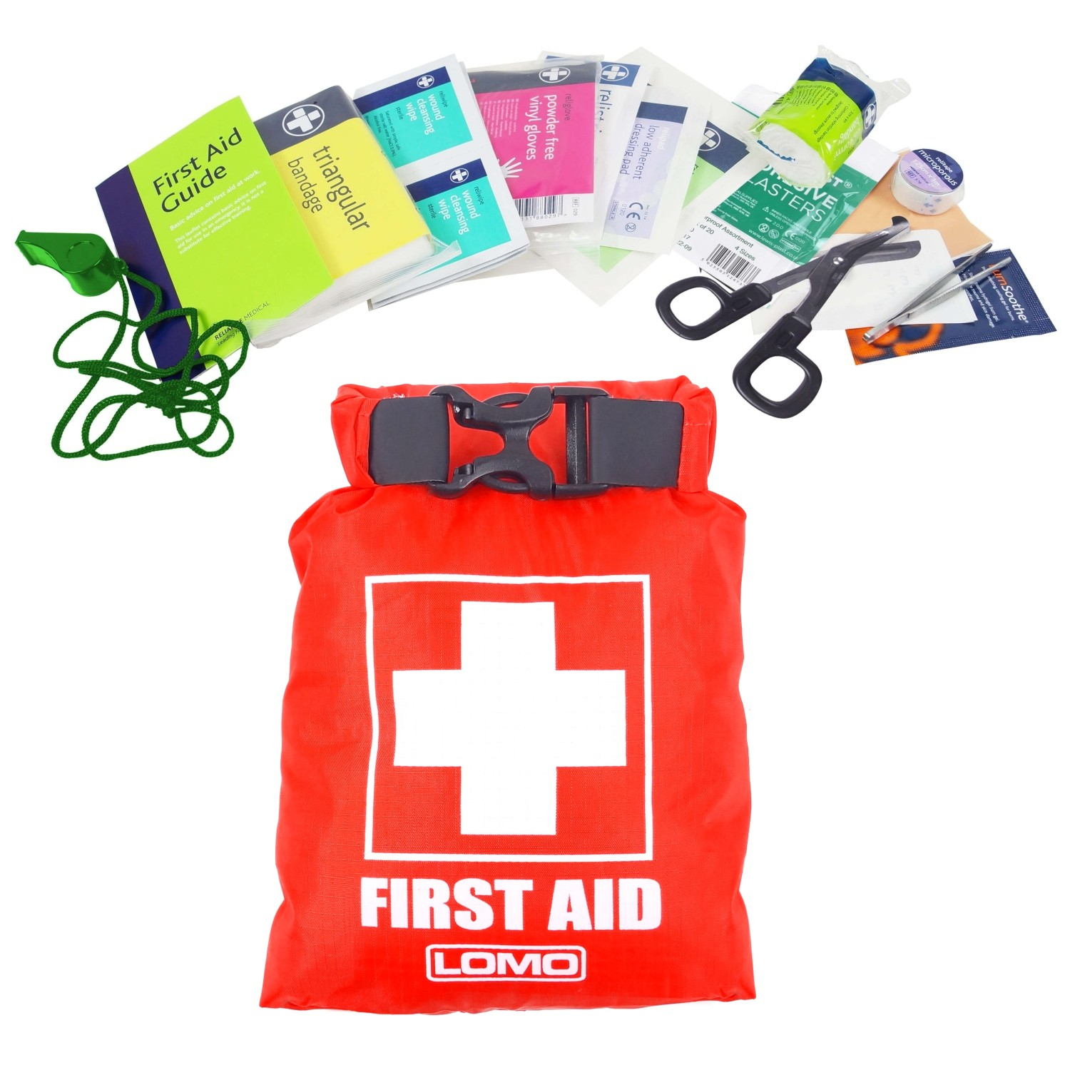 Lomo Dry Bag First Aid Kit - With Contents