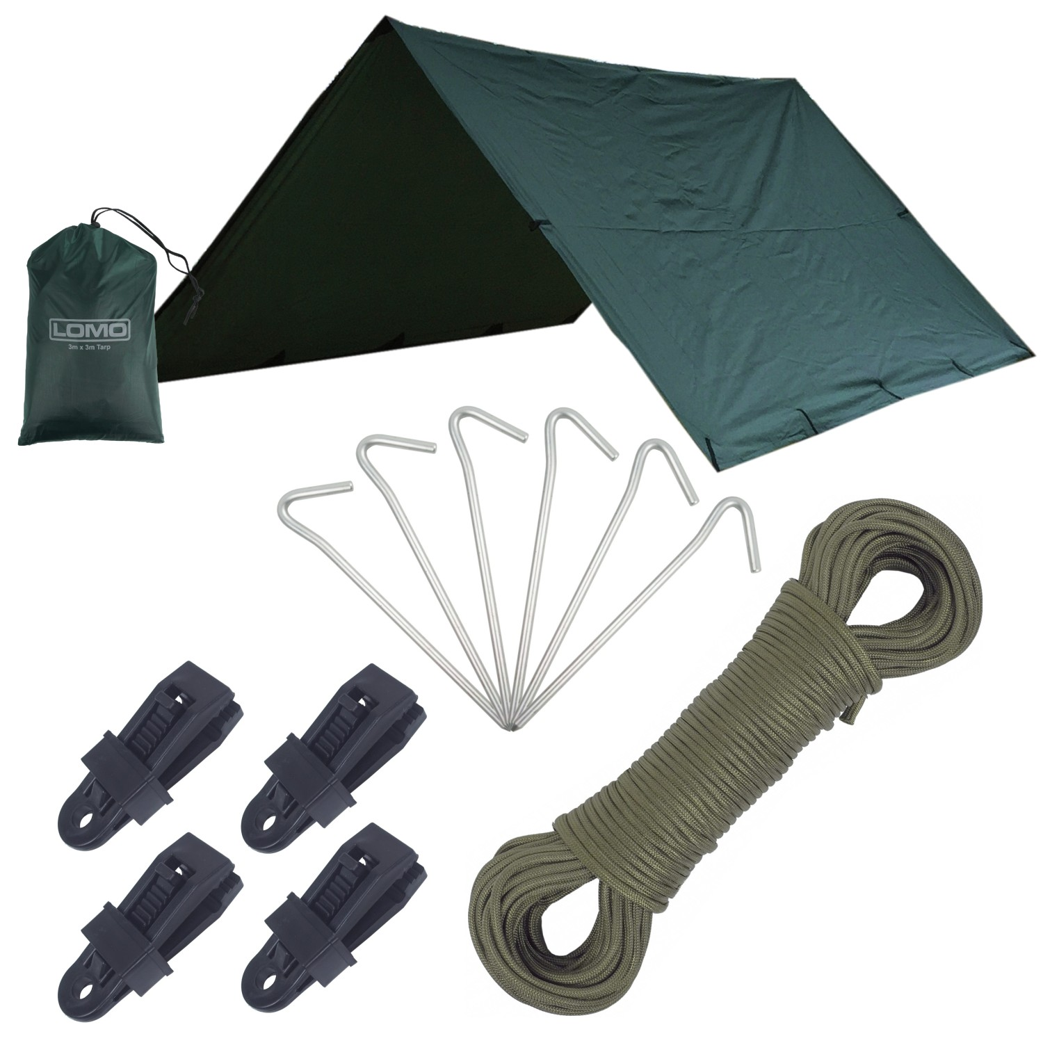Bushcraft Survival Bivi Shelter Tarp Set