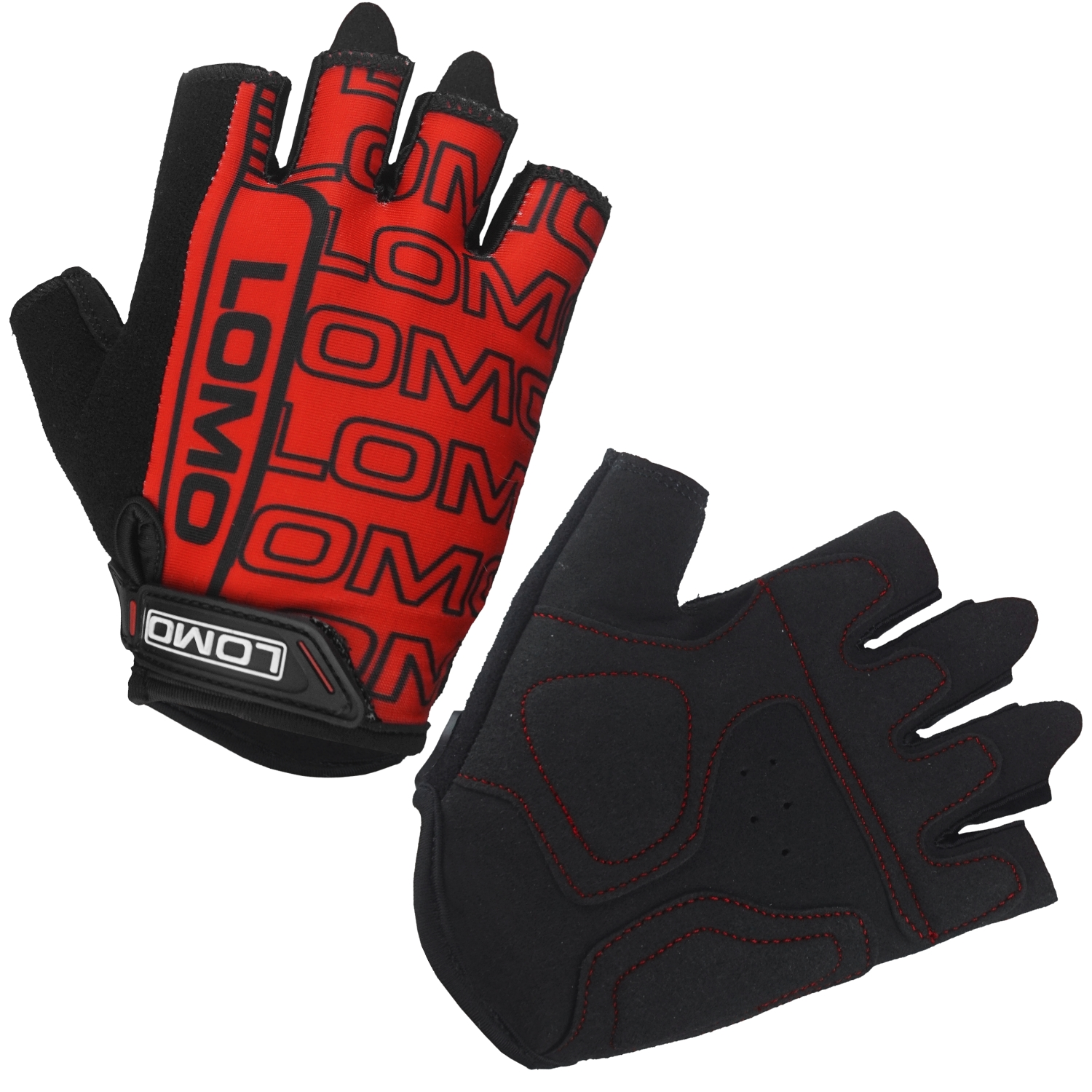 SG2 - Short Finger Cycling Gloves - Red
