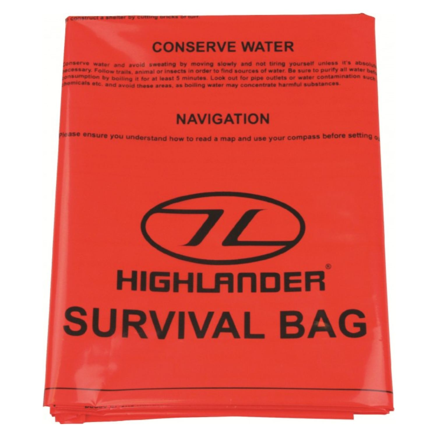 Double Emergency Survival Bag - Orange / XL