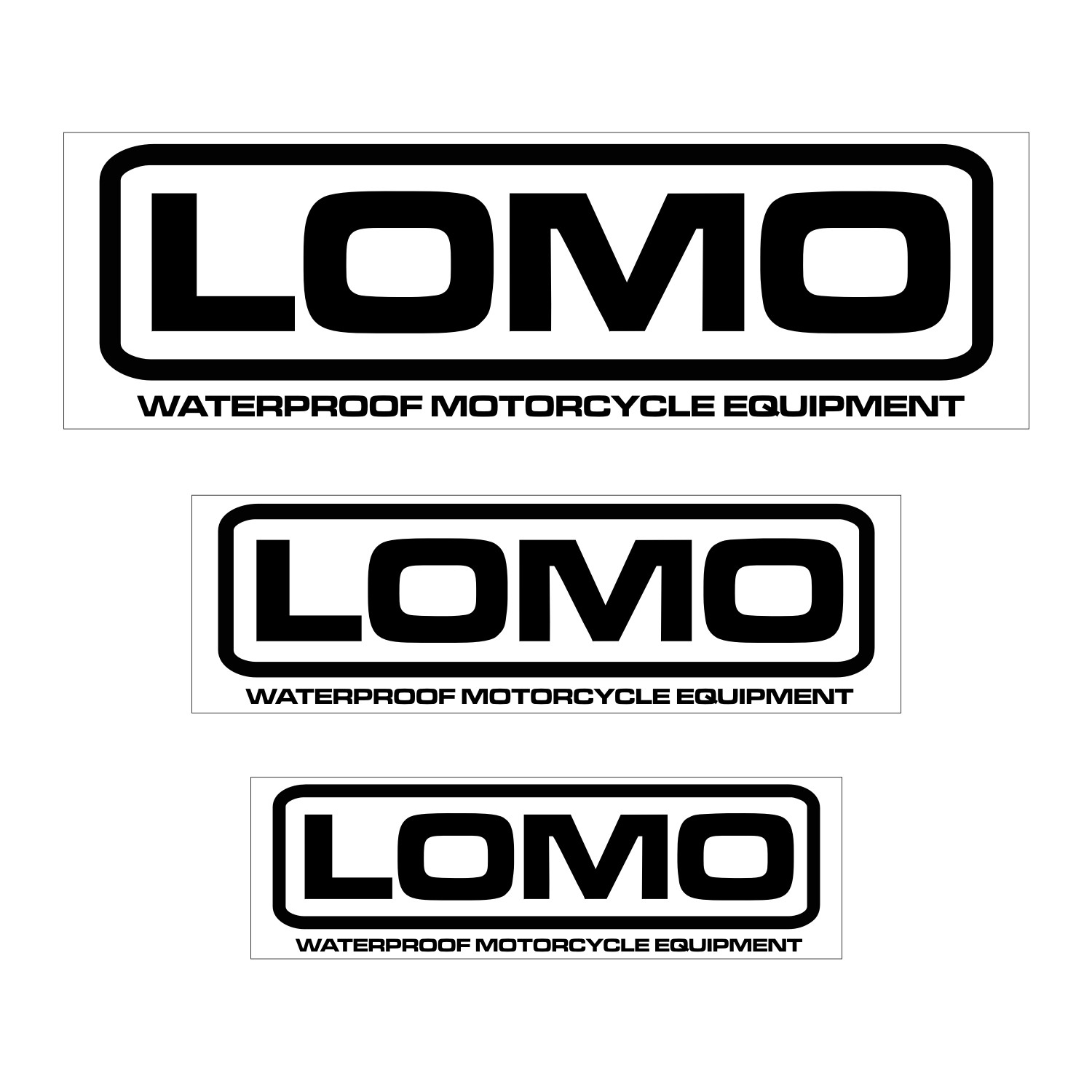Lomo motorcycle stickers pack of 6