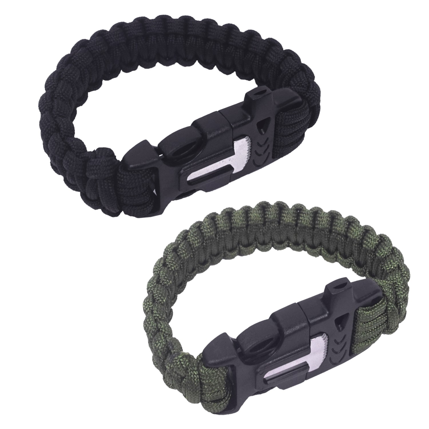 Paracord Bracelet With Fire Steel 9 Inch